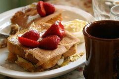 Stuffed French Toast royalty free stock photos