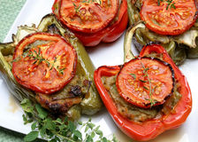 Stuffed fried peppers Royalty Free Stock Image