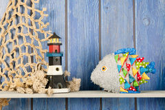 Stuffed funny fish at home Royalty Free Stock Image