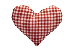 Stuffed gingham heart Stock Photo