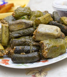 Stuffed grape leaves Royalty Free Stock Photography