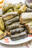 Stuffed grape leaves Royalty Free Stock Images