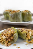 Stuffed green bell peppers Stock Image