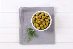 Stuffed green olives Royalty Free Stock Photography