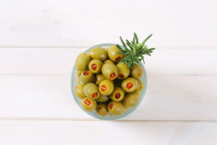 Stuffed green olives Stock Images