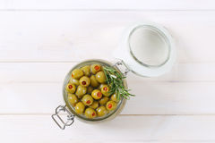 Stuffed green olives Royalty Free Stock Photo