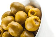Stuffed green olives marinated Stock Image