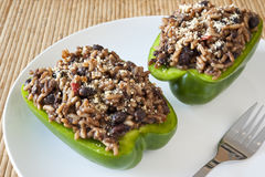 Stuffed green Peppers Royalty Free Stock Image