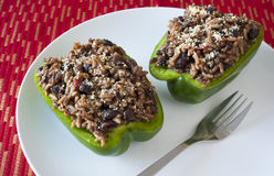 Stuffed Green Peppers Stock Image