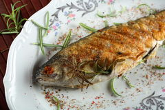 Stuffed Grilled Trout Stock Image