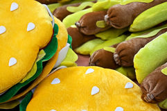 Stuffed Hamburgers and Hot Dogs Royalty Free Stock Photo