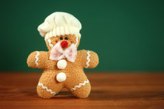 Stuffed Homemade Gingerbread Christmas Man Stock Photography