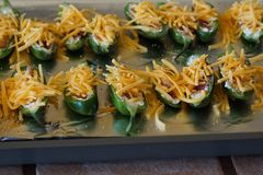 Stuffed jalapeño peppers. Stock Photography