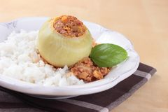 Stuffed kohlrabi Stock Photo