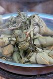 Stuffed leaves. Sold in an Asian street market Royalty Free Stock Image