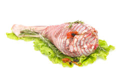 Stuffed leg of lamb Royalty Free Stock Photos
