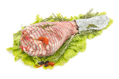 Stuffed leg of lamb Stock Image