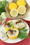Stuffed lemons Stock Images