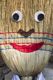 Stuffed man with broom Royalty Free Stock Photo