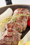 Stuffed meat roulade Stock Images