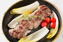 Stuffed meat roulade Stock Photos