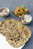 Stuffed Methi Paratha from India Stock Image