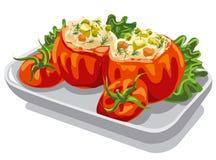 Stuffed minced tomatoes Stock Photo
