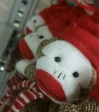 Stuffed Monkeys in Department Store Royalty Free Stock Photos