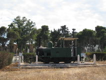 Old pannier tank loco in Cyprus Stock Images