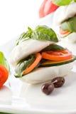 Stuffed Mozzarella Sandwich Stock Image