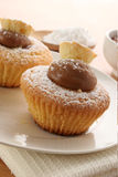 Stuffed muffins Royalty Free Stock Photos