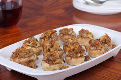 Stuffed Mushroom Appetizer Royalty Free Stock Photos