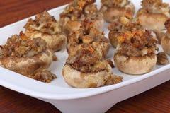 Stuffed Mushroom Appetizers Stock Image