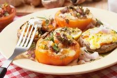 Stuffed mushroom and tomato Royalty Free Stock Image