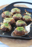 Stuffed mushrooms. With cheese and dill Stock Images