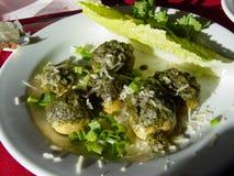 Stuffed Mushrooms. Cuisine royalty free stock image