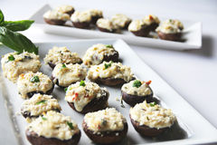 Stuffed Mushrooms Caprese Stock Photo