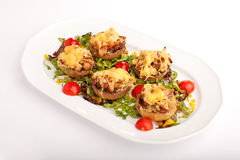 Stuffed mushrooms with cheese Stock Images