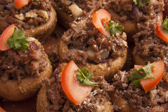 Stuffed mushrooms Stock Images