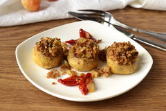 Stuffed mushrooms with sun-dried tomatoes Stock Photos