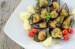 Stuffed Mussels Royalty Free Stock Photography