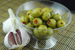 Stuffed olives Royalty Free Stock Photo
