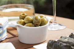 Stuffed Olives Royalty Free Stock Images