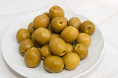 Stuffed olives Royalty Free Stock Photos
