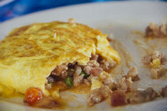 Stuffed omelet Stock Photography