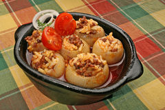 Stuffed onion Stock Images