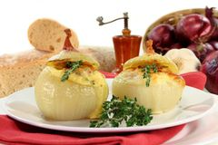 Stuffed onions Royalty Free Stock Image