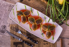 Stuffed oranges Stock Image