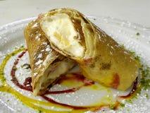 Stuffed pancake royalty free stock photography