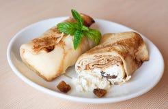 Stuffed pancake breakfast Stock Images